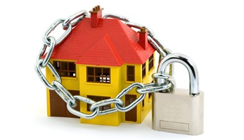 locked down house
